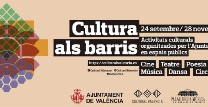 Programa Cultura als Barris, actividades gratuitas en los barrios de Valencia