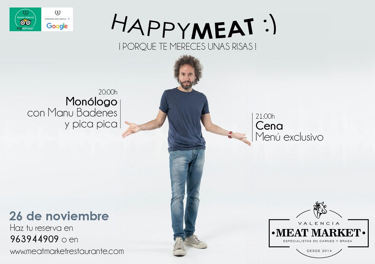 postal happy meat anverso