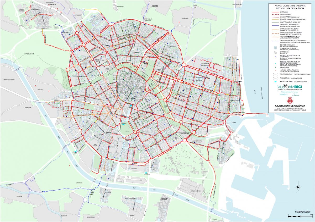 Mapa Carril Bici Valencia