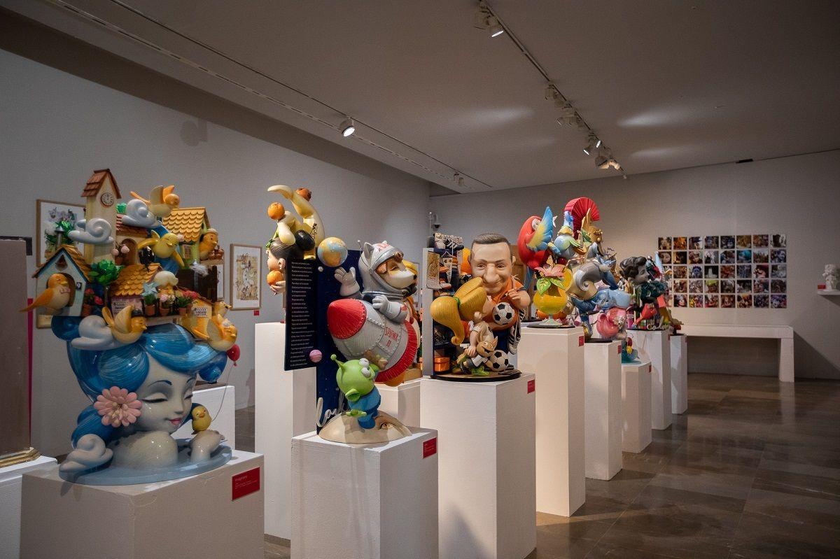 Exposición de los artistas falleros Ceballos & Sanabria y Dulk valencia