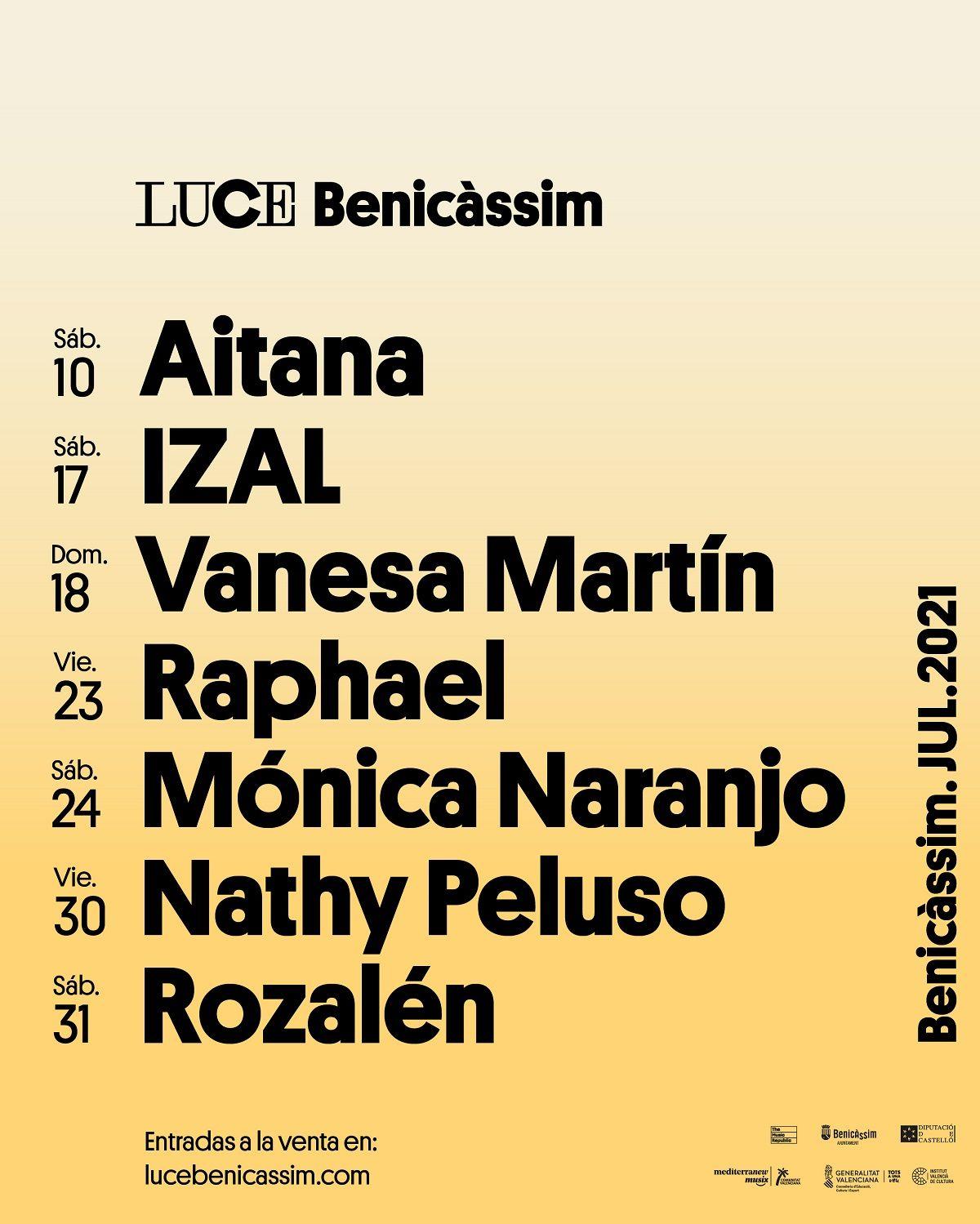 Luce Benicàssim, el festival de música que brillará este verano valencia