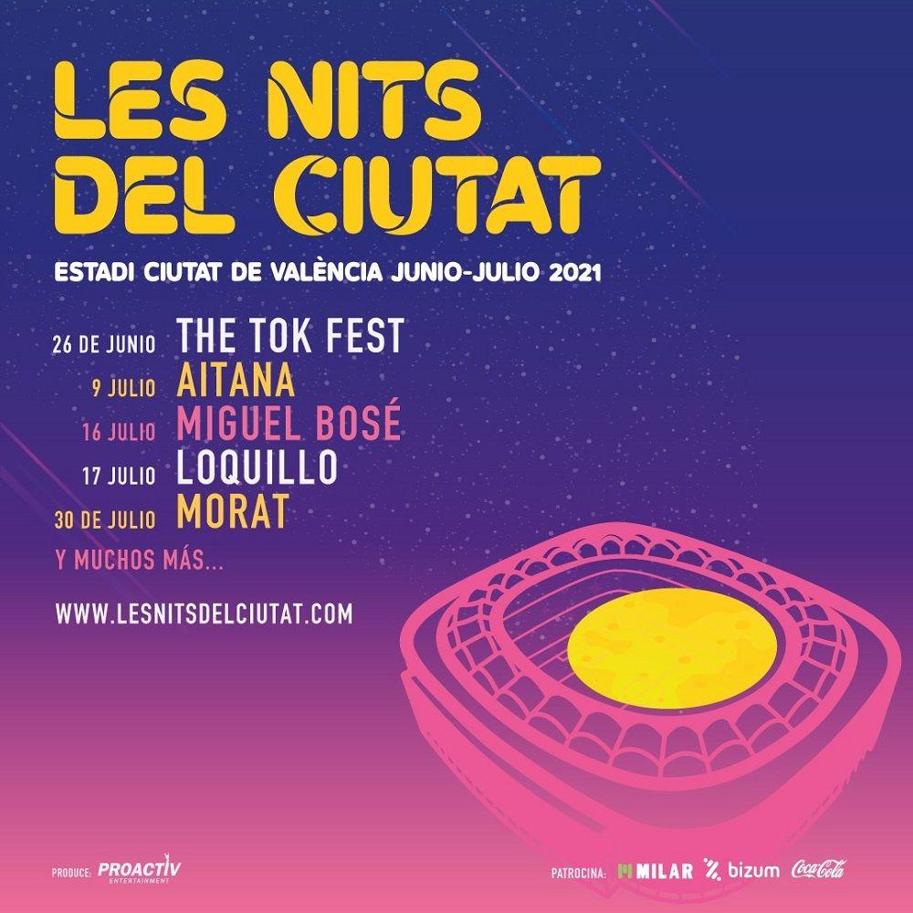 Conciertos en 'Les Nits del Ciutat' valencia